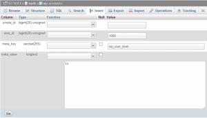 ساختن کاربر ادمین وردپرس در php my admin