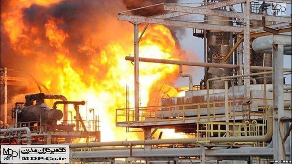 آتش سوزی پتروشیمی بوعلی سینا ماهشهر