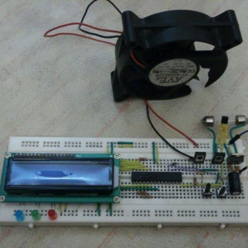 مدار کنترل دما - پروژه دستگاه کنترل دما با دو خروجی فن و المنت AVR - Bascom 951005